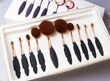 Artist Professional Toothbrush Shape Makeup Oval Puff Brush 10 pieces Set