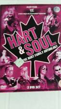 WWE WRESTLING DVD HART AND SOUL BRET HART TRIPLO DVD REGION PAL