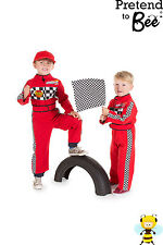 TODDLER BOYS KIDS CAR RACING DRIVER ROLE PLAY COSTUME OVERALLS OUTFIT AGE 2-3-5