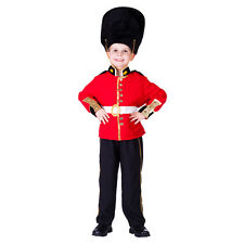 KIDS BOYS CHILDRENS DELUXE ROYAL GUARD PALACE SOLDIER COSTUME UNIFORM AGE 3-4-6