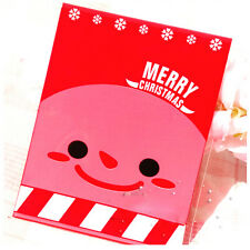 100Pcs Christmas Santa Cellophane Party Treat Candy Biscuits Gift Bags Fad  UK