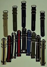 22mm Ballistic Nylon - 1-Piece / 2-Piece Military Style - Zulu Diver Watch Strap
