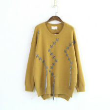 New Womens Loose Tops Hot Casual Tassel Warm Winter Sweaters Fashion Pullover