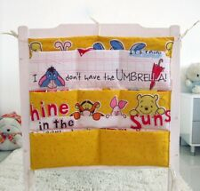 Cartoon Rooms Nursery Hanging Storage Bag Baby Cot Bed Crib Organizer Toy Pocket