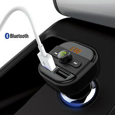 Bluetooth Car Kit Wireless FM Transmitter Dual USB Charger Audio MP3 Player LCD
