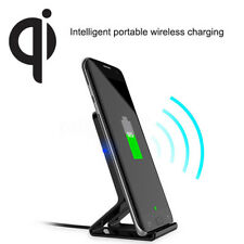 QI Wireless Charging Charger Dock Stand Holder For iPhone 8 Plus X Samsung