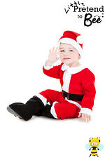 TODDLER KIDS DELUXE SANTA CLAUS FATHER CHRISTMAS COSTUME OUTFIT AGE 1- 5 YEARS