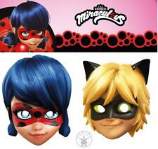 Rubies CARD MASK Miraculous Ladybug, Cat Noir Maschera di cartone