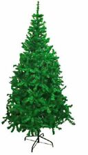 QUALITY GREEN TRADITIONAL INDOOR ARTIFICIAL XMAS CHRISTMAS TREE WITH METAL BASE