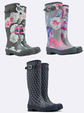 Joules Welly Print Boots, Navy Oyster Catcher, Grey Beau Bloom, Grey Beau Stripe