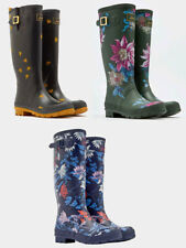 Joules Welly Print Boots - Olive Clematis, Black Bee, French Navy Fay Floral
