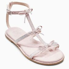 NEXT Pink Bow Embellished Sandals Young Girls / Womens - sz 3 4 6