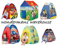 Pop Up Play Tents - Paw Patrol/Cars 3/Cars/Minions/Mickey Mouse - Brand New