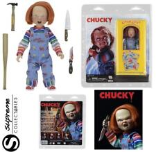 """CHILDS PLAY 8"""" CHUCKY GOOD GUY CLOTHED ACTION FIGURE & ACCESSORIES NECA SET NEW"""