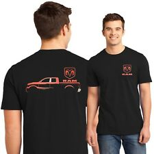 Dodge Ram T Shirt Red Ram Hemi Pickup Truck Logo Small to 6XL and Tall