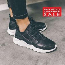 BNIB New Womens Nike Air Huarache Run SI Leather Black size 6uk