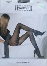 NEUF @@ COLLANT MAT TRANSPARENT NEARLY BLACK WOLFORD Individual 10 + L (FR46/48)