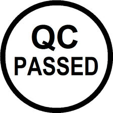 Quality Control QC Passed Labels (Stickers) 15mm diameter