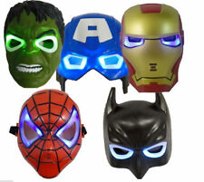 Marvel Hero Avengers LED LIGHT UP MASK HULK SPIDERMAN IRONMAN BATMAN C.AMERICA