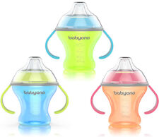 NON-SPILL CUP 180ml BABY TODDLER WITH SOFT SPOUT NATURAL NURSING BABYONO 1456