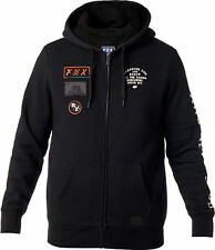 Fox Racing Mens Black Rostrum Sherpa Casual Zip-Up Hoody Hoodie Sweater