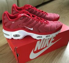 NIKE AIR MAX PLUS TXT TUNED 1 TN UNIVERSITY RED/WHITE 647315 611 TRAINERS 6 - 8