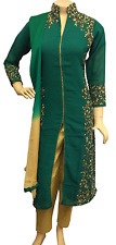 Indian Pakistani Georgette Trouser Suit Dress Shalwar Kameez Salwar, Stitched