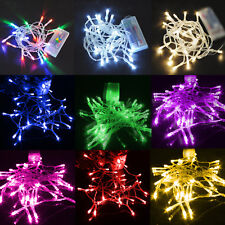 10LEDs/1M Fairy String Lights Battery Xmas Christmas Party Decor Night Light