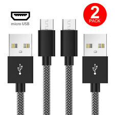 2-Pack 1m 3ft Fishnet Braided Micro USB Cable 2.4A Fast Charging Data Cable Lead