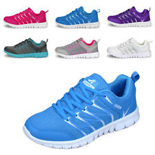 Women Athletic Sneakers Sports Casual Breathable Shoe Lace Up Flat Shoes Size