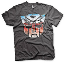 Officially Licensed Transformers Distressed Autobot Shield Men's T-Shirt S-XXL