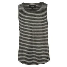 MENS FIRETRAP STRIPE GREY CAST SLEEVELESS TEE SHIRT T-SHIRT TOP VEST
