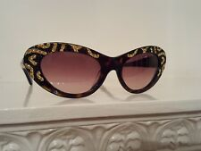 SALVATORE FERRAGAMO WOMEN'S DIAMANTE CAT EYE SUNGLASSES FIFTIES  LIMITED EDITION