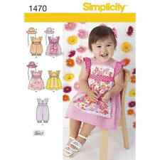 Simplicity Sewing Pattern 1470 Babies Dress, Romper in Two Lengths and Hat in Th