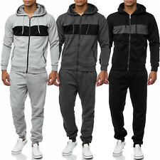 Sport Men FITNESS TUTA per jogging Sweat felpa cerniera Pantaloni training Cozy