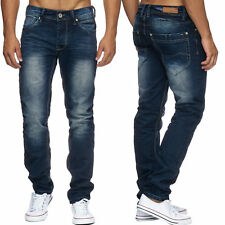 uomo regular fit jeans stone washed Pantaloni in denim dritto (100% cotone)