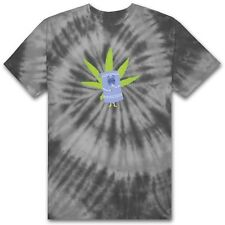 HUF X SOUTH TOWELIE TIE-DYE  TEE SHIRT BLACK