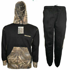 Unisex Men's Real Tree Jungle Print Tracksuit Army Camo Hoodie & Joggers  S-2XL