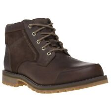 New Mens Timberland Brown Larchmont Chukka Leather Boots Lace Up