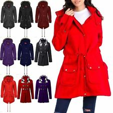 Ladies Womens Hoody Long Military Brave Soul Parka Faux Fur Fishtail Coat Jacket