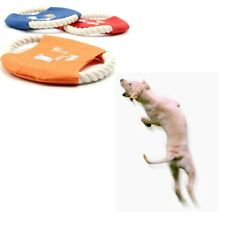 Pet Dog Training Frisbee Throwing Flying Disc Frisby Fetch Molar Cotton Rope Toy