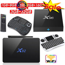 X92 X96 Smart TV Box 1/2/3GB + 8/16/32GB Android6.0 4-Core 8-Core Media Game