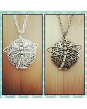 Dragonfly Inspired Essential Oil Aromatherapy Diffuser Locket Necklace Choose: A