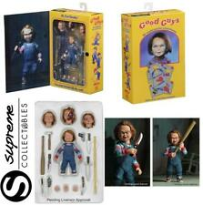 """4"""" CHUCKY GOOD GUY ULTIMATE ACTION FIGURE ACCESSORIES CHILDS PLAY 1 2 3 NECA SET"""