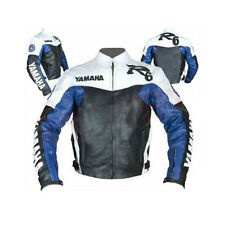 YAMAHA R6 GIACCA IN PELLE BIKER UOMO GIACCA IN PELLE MOTO PELLE BIKER GIACCA
