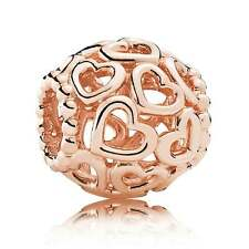 Genuine Pandora Rose Gold Open Your Heart Charm - 780964 retail packaging