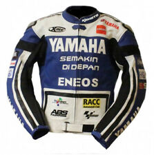 YAMAHA ENEOS GIACCA IN PELLE UOMO MOTO PELLE BIKER GIACCA GIACCA IN PELLE BIKER