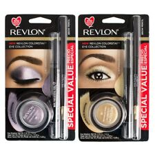 REVLON COLORSTAY EYE COLLECTION SET CREME EYE SHADOW 725, KAJAL 101, BROW PENCIL