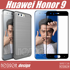 Noziroh 3d Carbon Frosted Protector+Vidrio Templado Curvado Full Huawei Honor 9