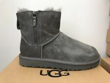 UGGS W CLASSIC MINI DOUBLE ZIP ANKLE BOOTS *BNIB* GENUINE